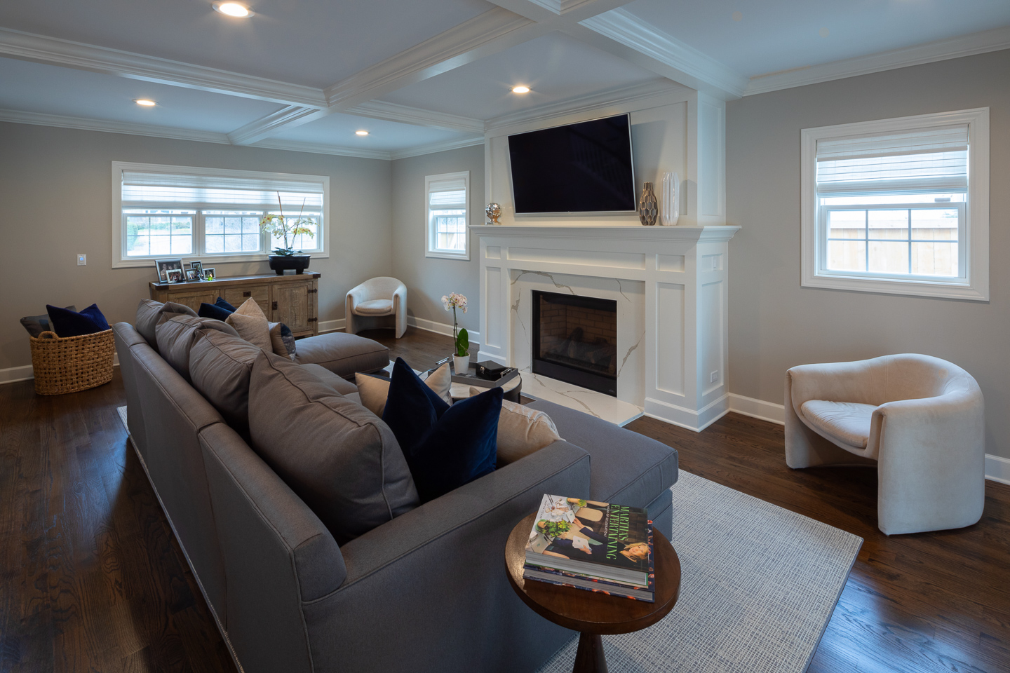 family room by AMA Development Deerfield Illinois