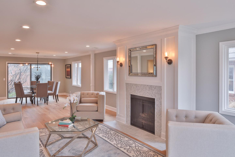 living room by Samara Development Deerfield Illinois